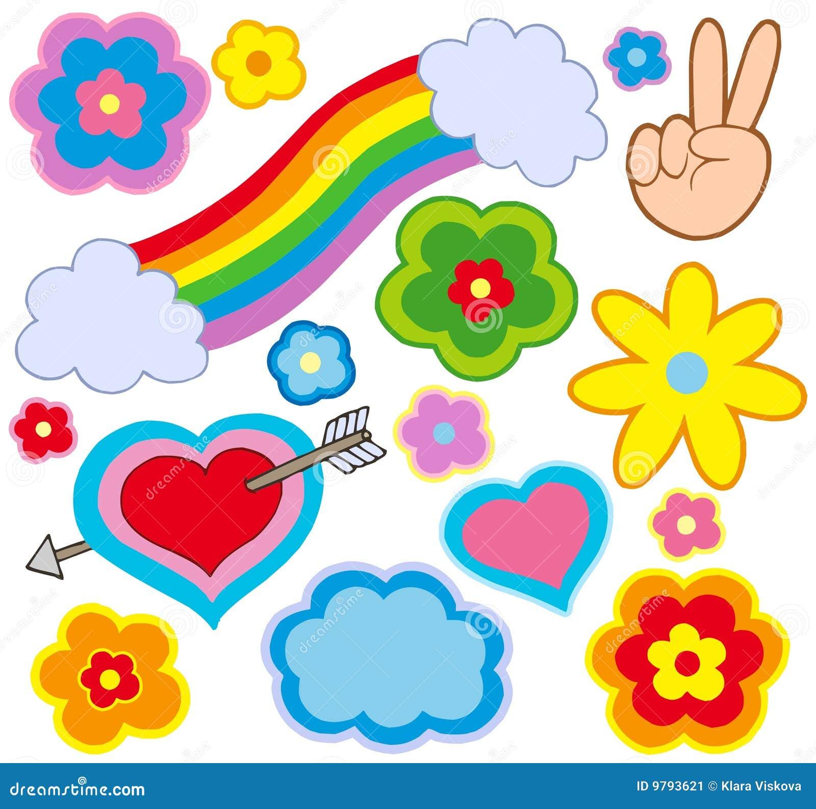 De decoratie van de hippie stock afbeelding beeld 9793621 - Decoratie afbeelding ...