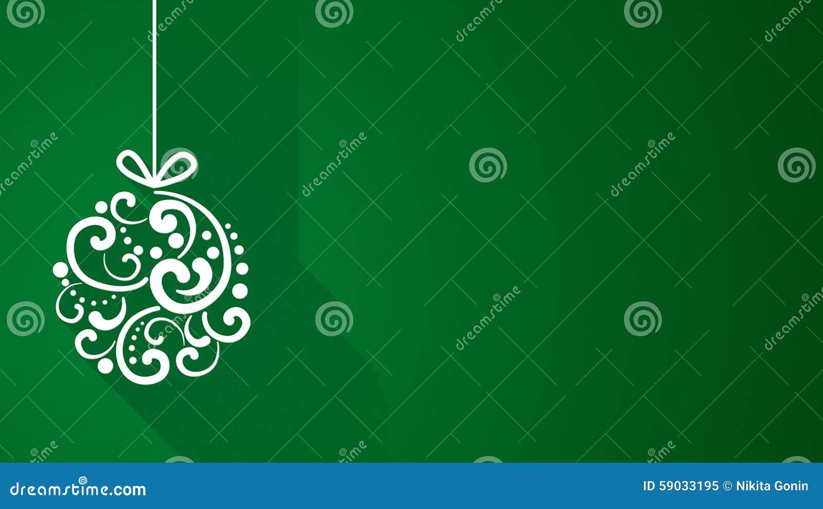 De decoratie van de kerstmisbal met lange schaduwen op groen stock illustratie afbeelding - Decoratie van de kamers van de meiden ...