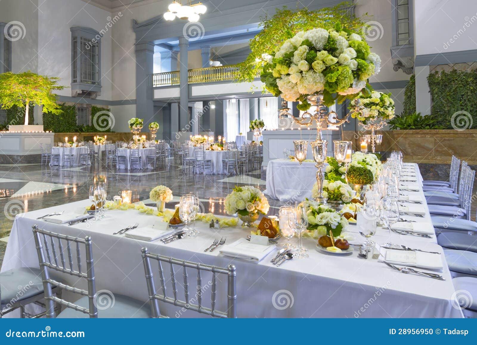 De decoratie van de lijst van het trefpunt van de gebeurtenis of van het huwelijk stock foto - Decoratie van de villas ...