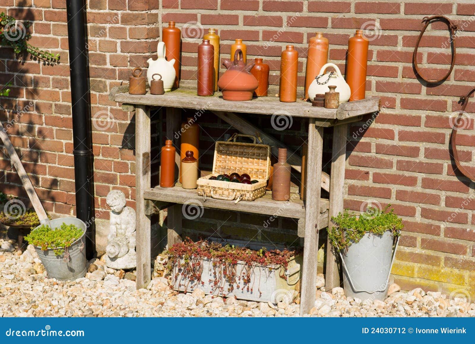 De decoratie van de tuin openlucht stock foto afbeelding