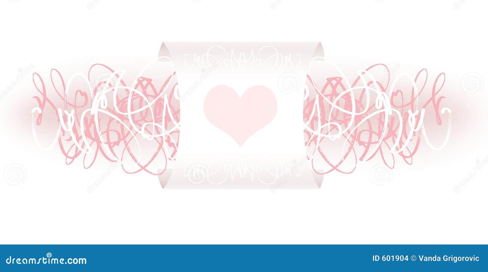 De decoratie van de valentijnskaart