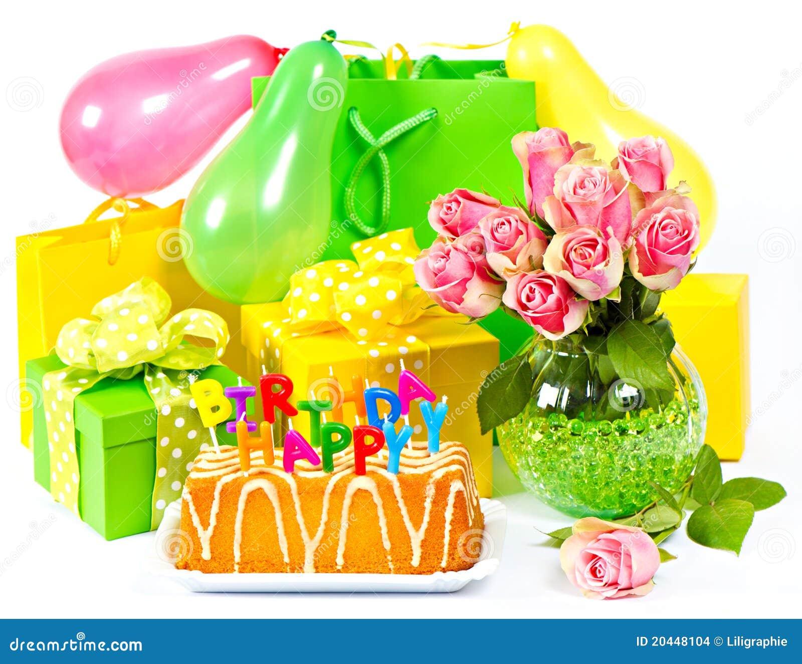 De decoratie van de verjaardag kaart concept stock afbeeldingen afbeelding 20448104 - Decoratie geel ...