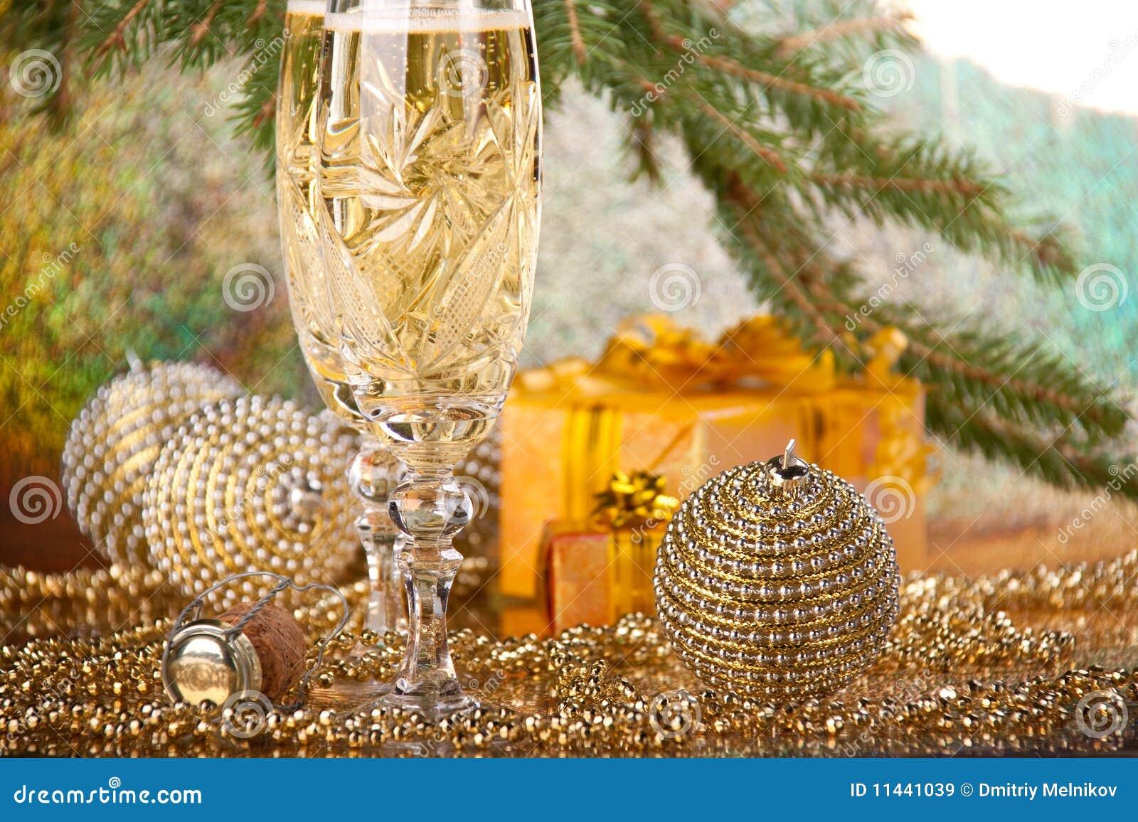 De decoratie van het nieuwjaar en van kerstmis royalty vrije stock afbeeldingen afbeelding - Decoratie van de villas ...