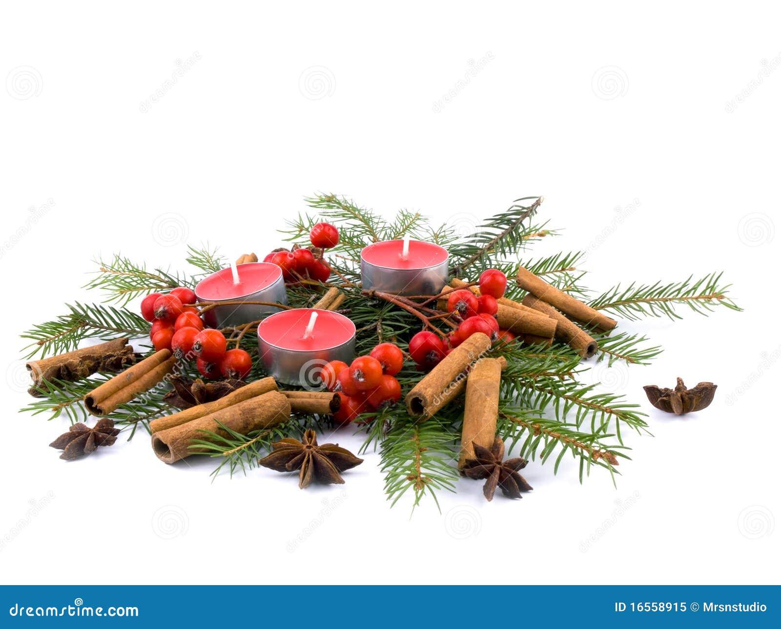 De decoratie van kerstmis stock afbeelding afbeelding bestaande uit kaars 16558915 - Foto decoratie ...
