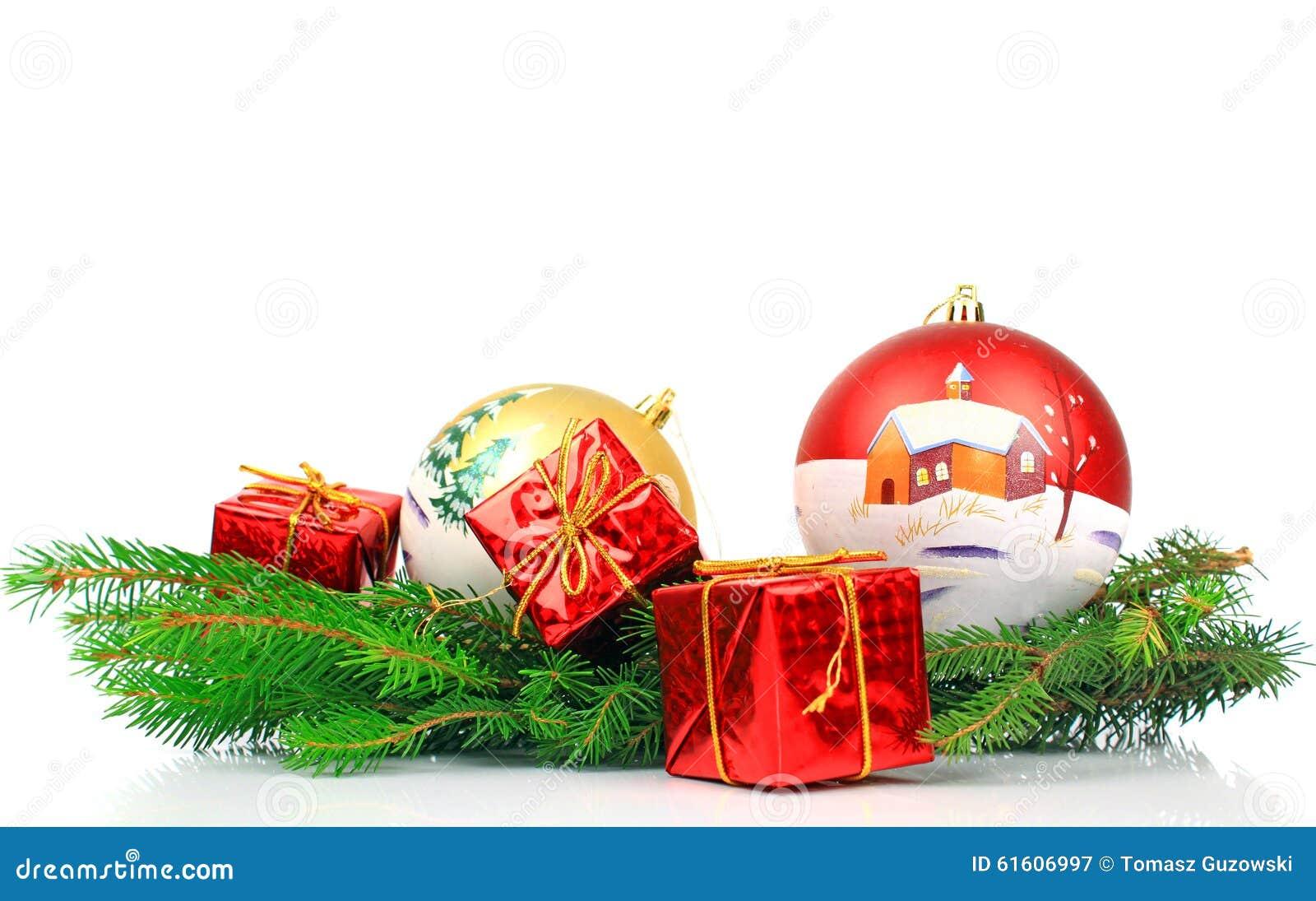 De decoratie van kerstmis stock afbeelding afbeelding bestaande uit spar 61606997 - Foto van decoratie ...