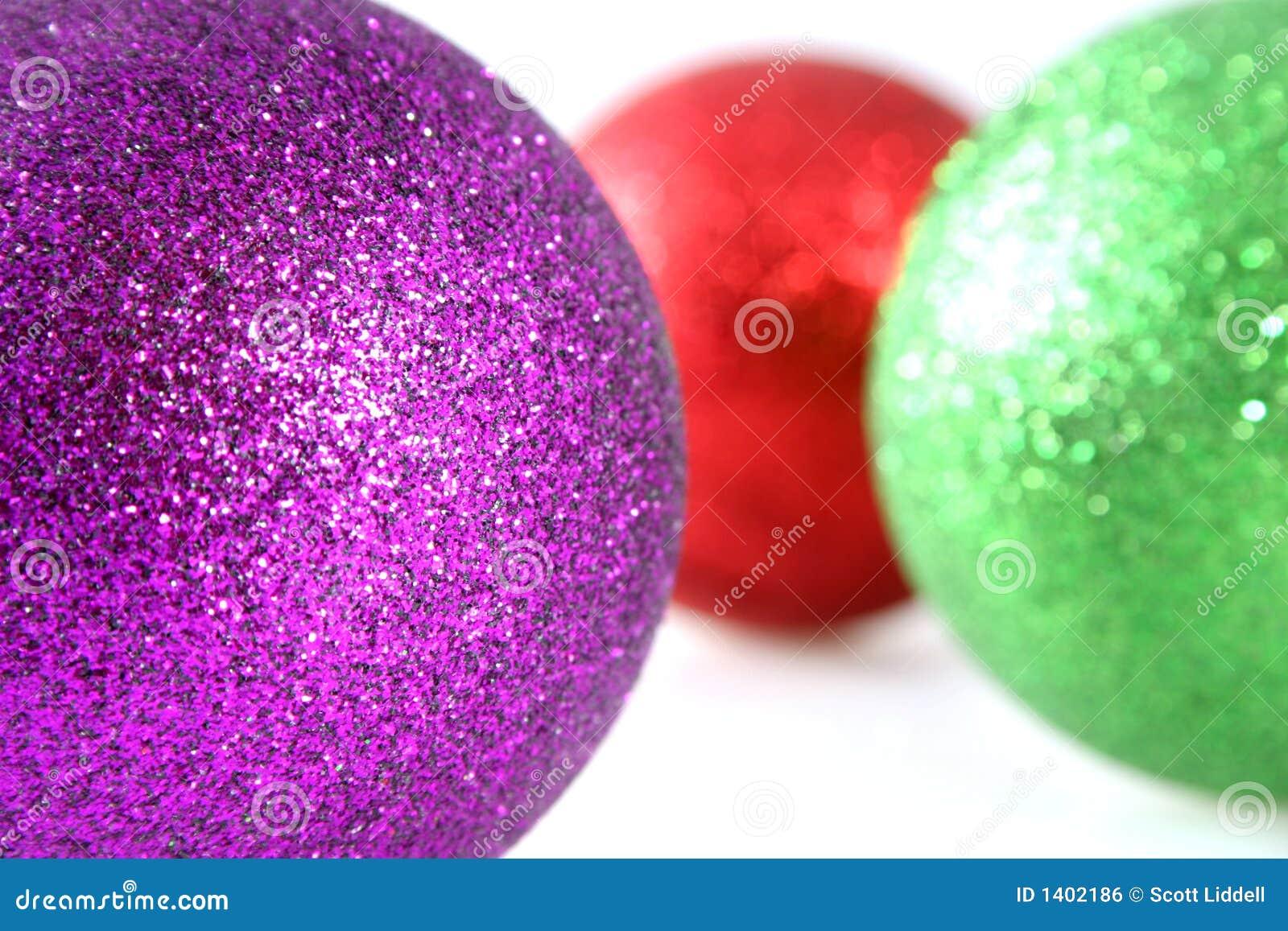 De Decoratie van Kerstmis met Ondiepe Diepte van Gebied