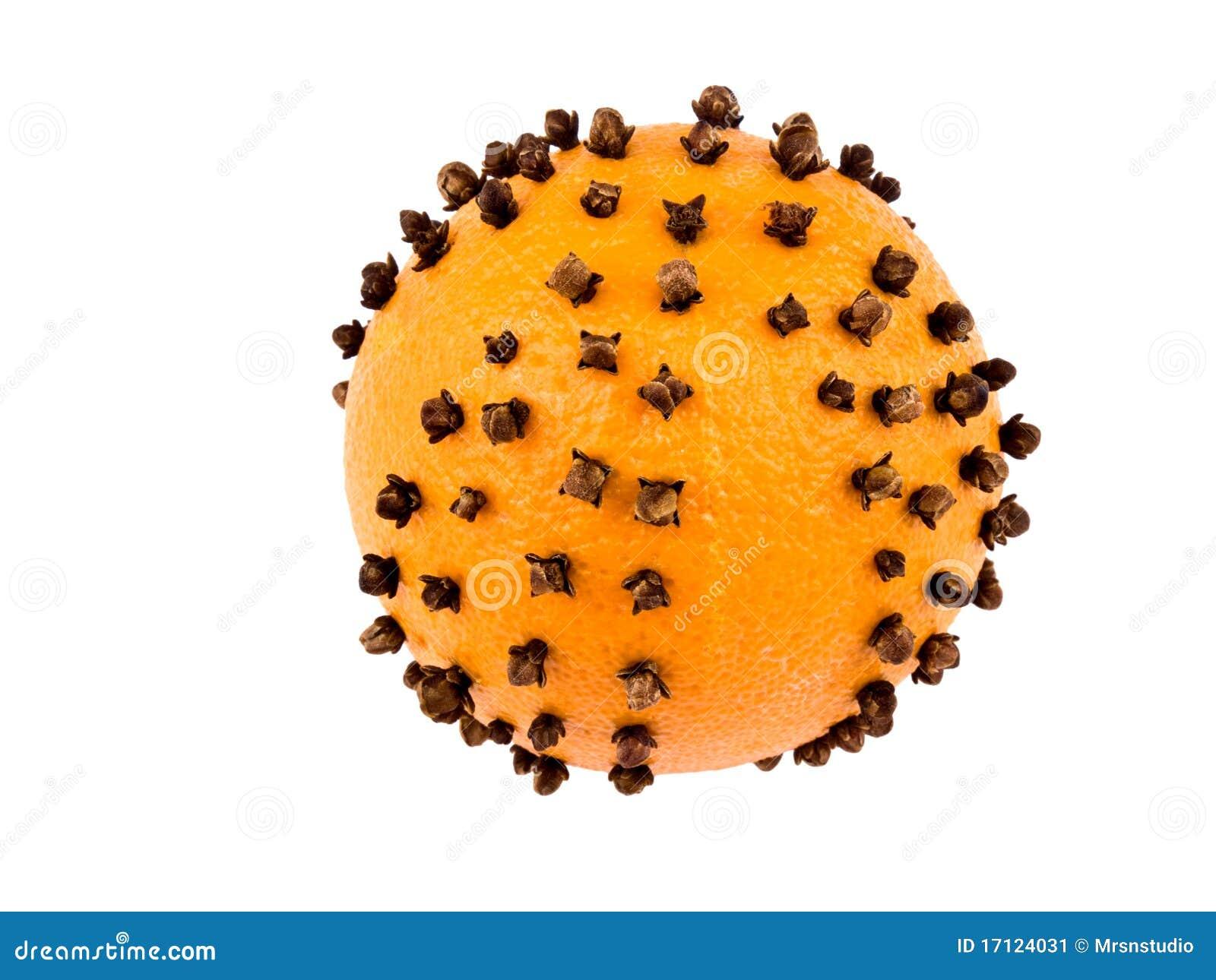 De decoratie van kerstmis sinaasappel met kruidnagels stock afbeelding afbeelding 17124031 - Decoratie van de villas ...