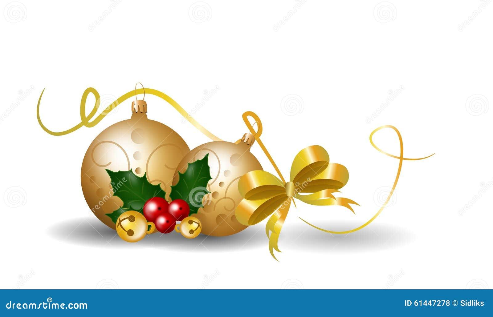 De decoratie van kerstmisbollen stock illustratie afbeelding 61447278 - Decoratie van de villas ...