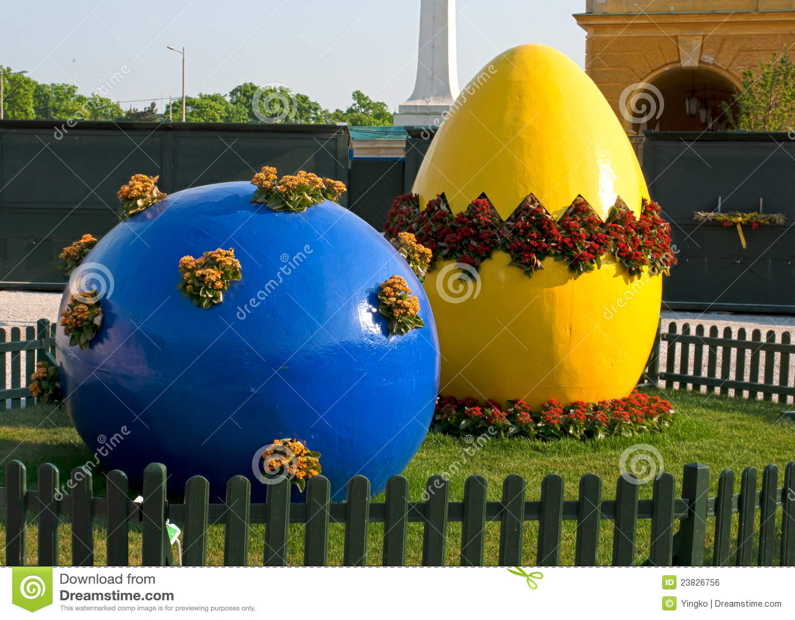 De decoratie van pasen royalty vrije stock afbeelding afbeelding 23826756 - Decoratie geel ...