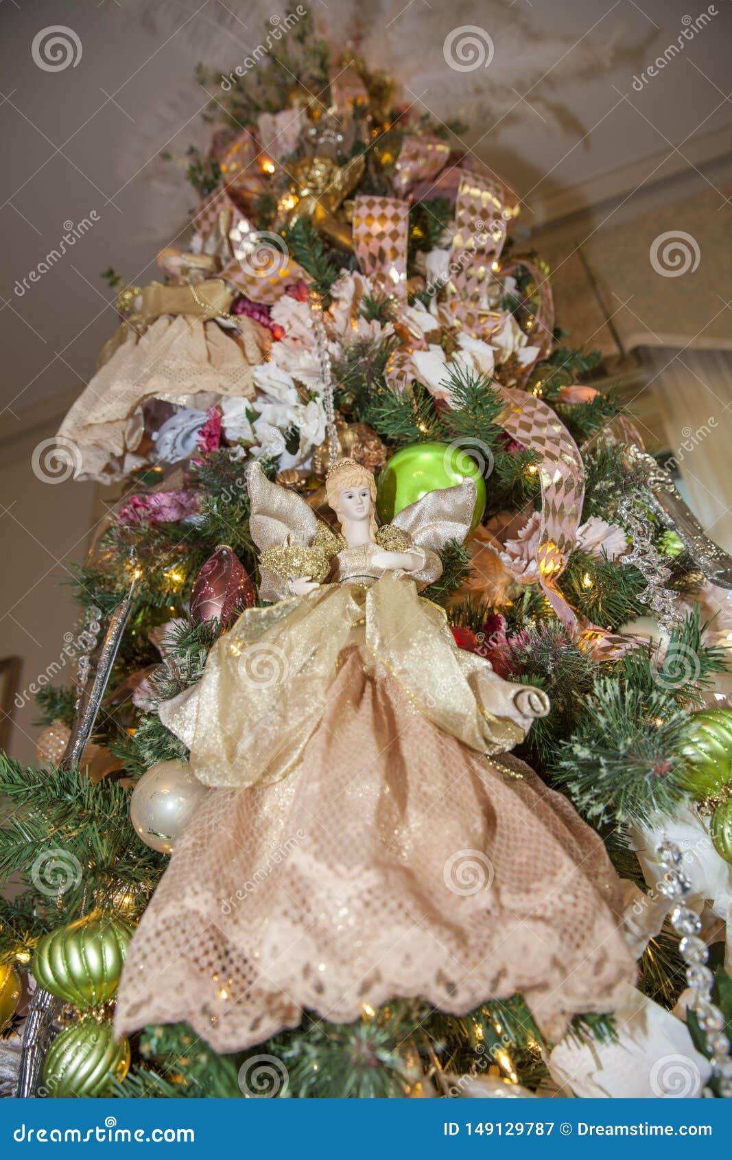 De decoratieengel van Kerstmis