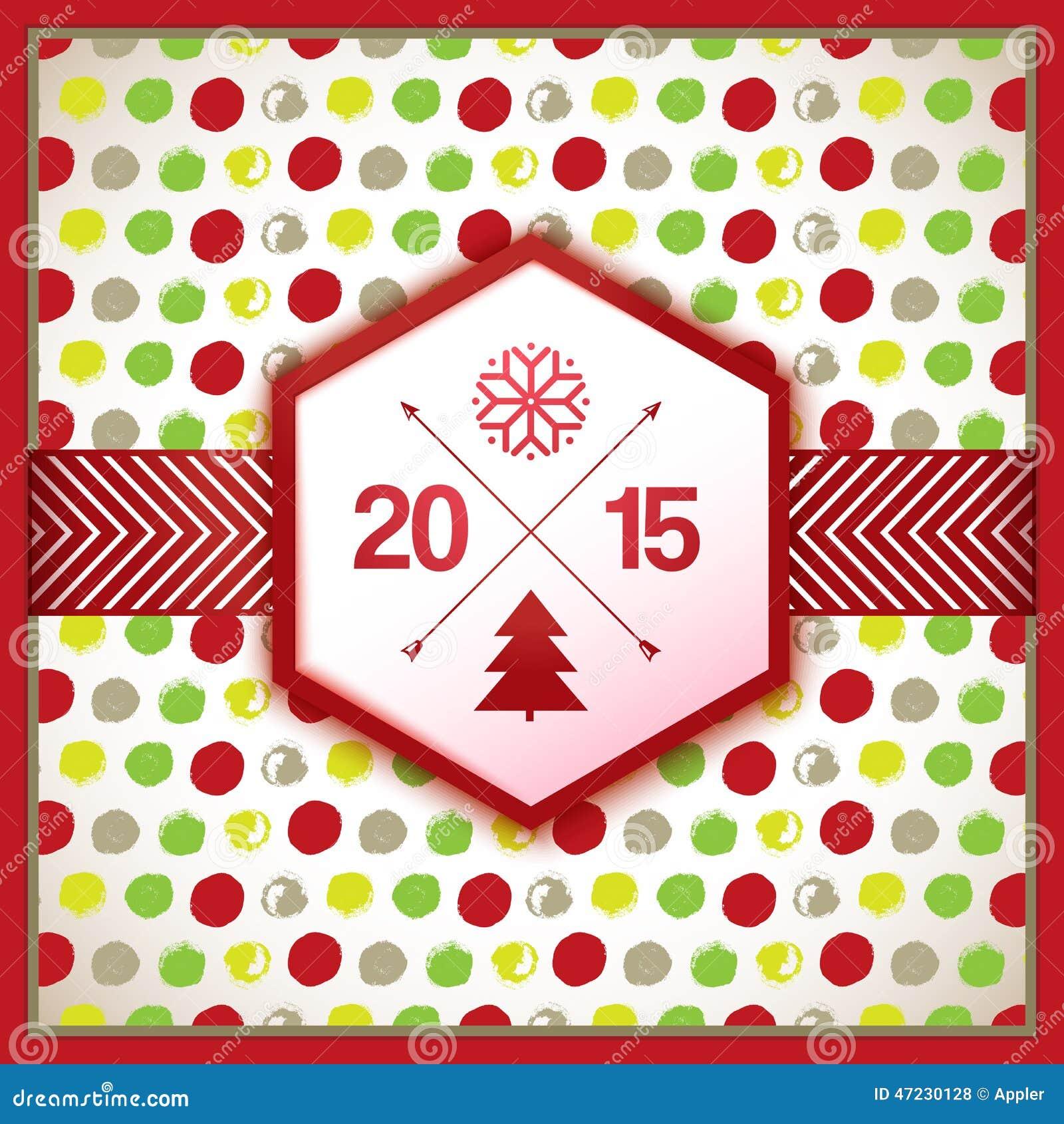 De decoratieve nieuwe kaart van de jaarviering