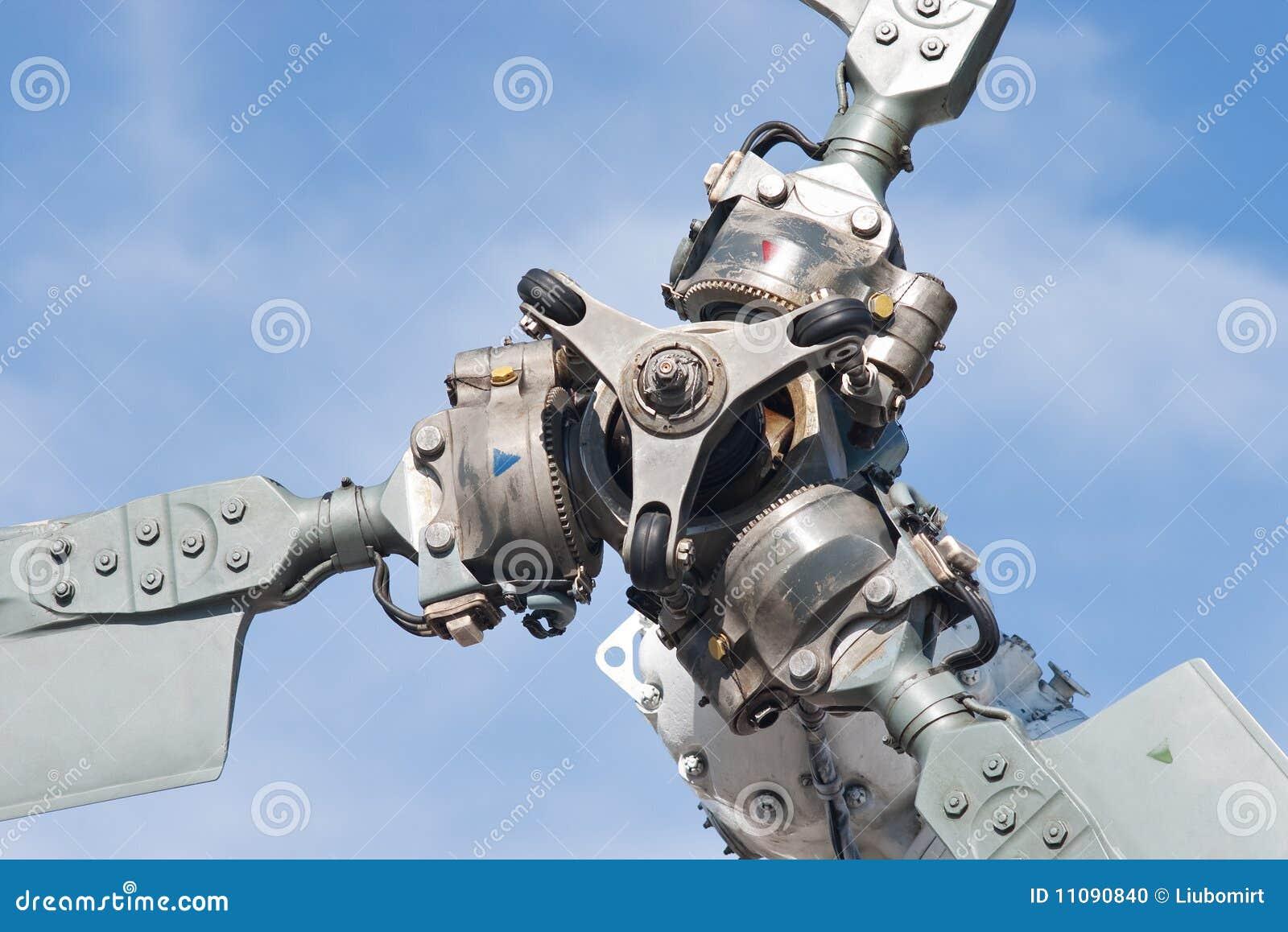 De delen van het de rotorblad van de helikopter