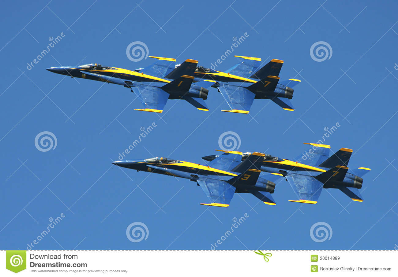 De demonstratieeskader van de Engelen van de Marine van de V.S. Blauw