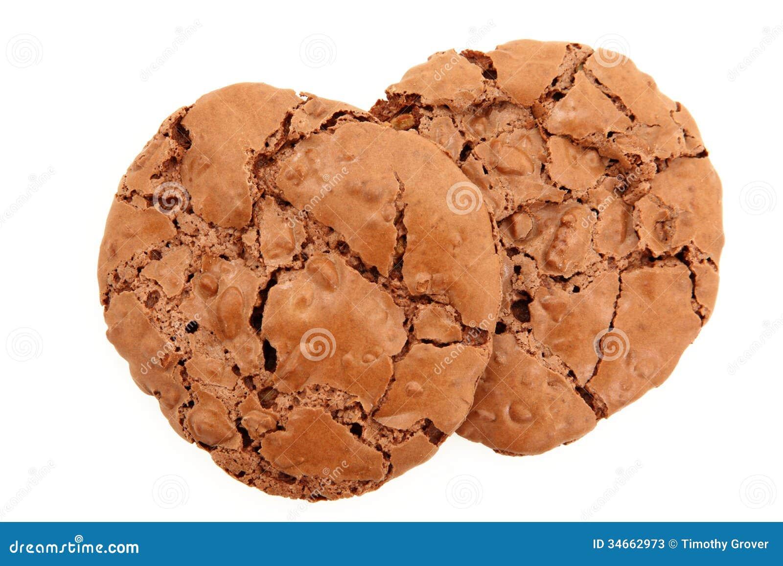 De dessus vue vers le bas d une paire de biscuits caoutchouteux de chocolat