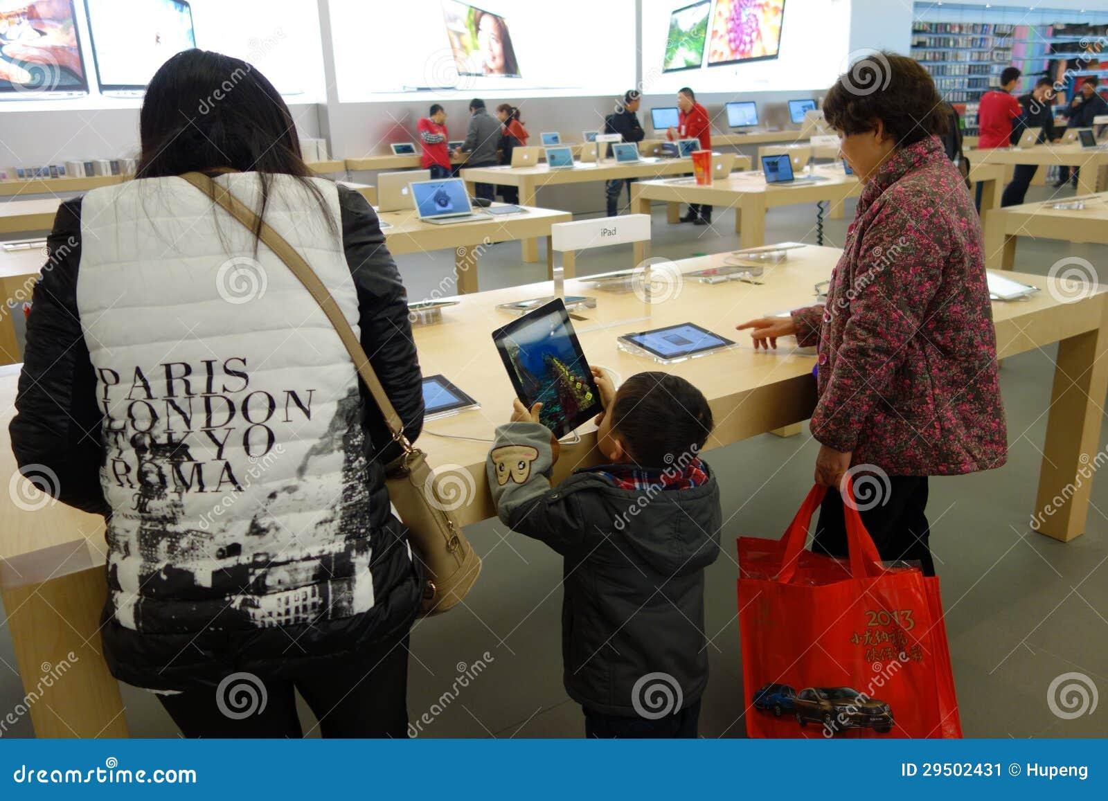 De detailhandel van Apple in Chengdu