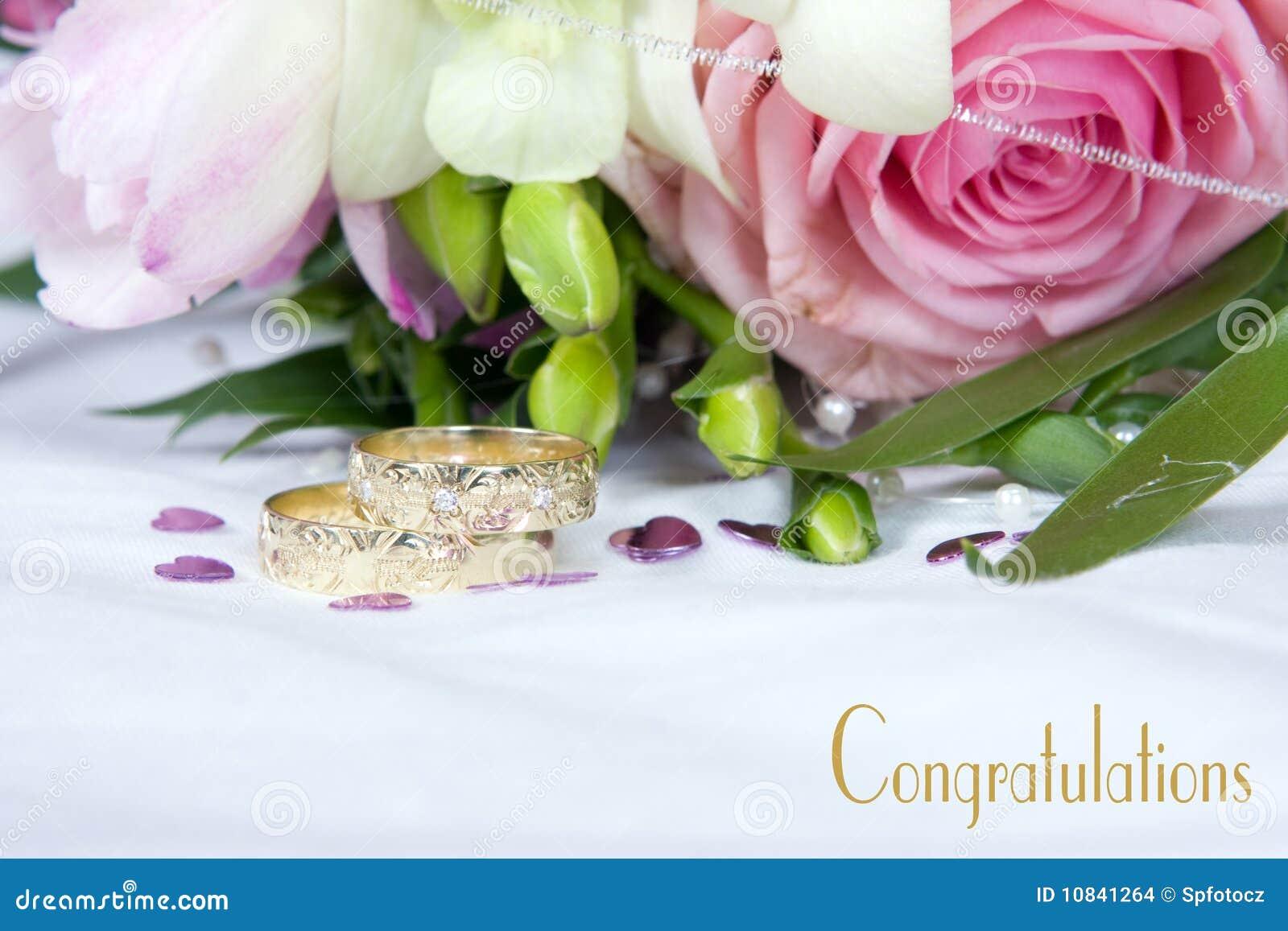 De details van het huwelijk gelukwensen stock foto