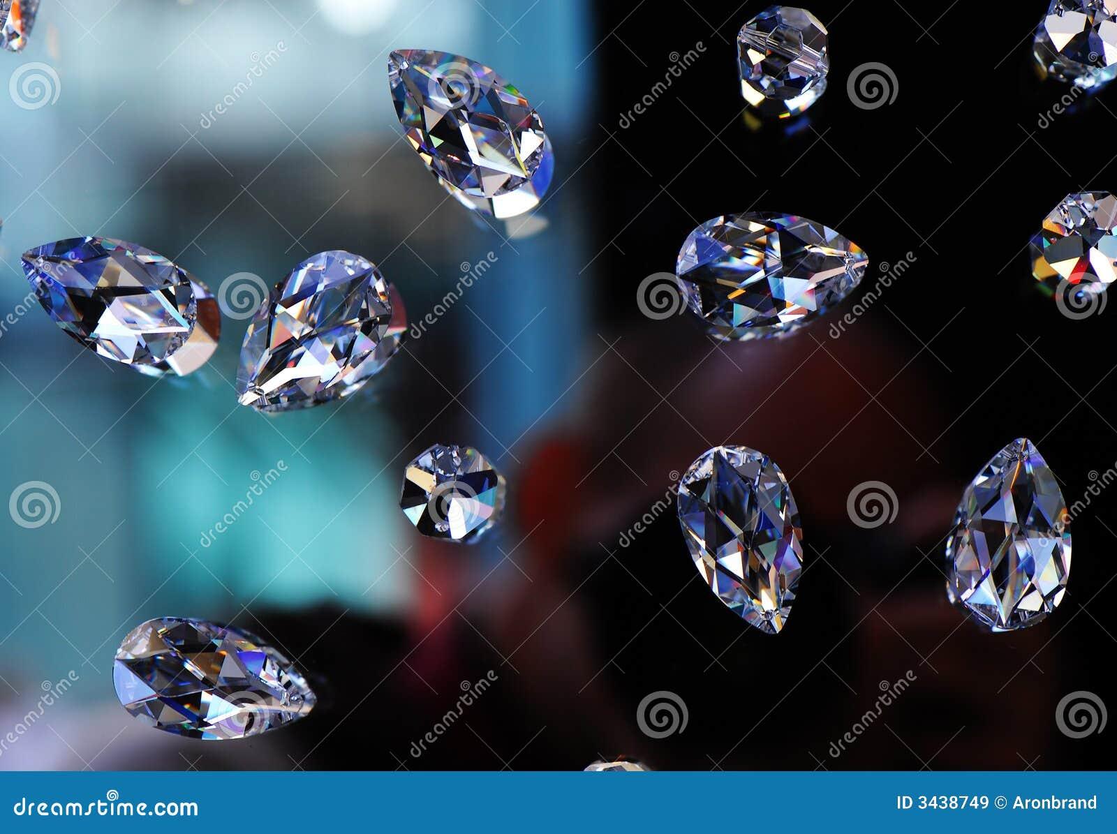 De diamanten van het glas