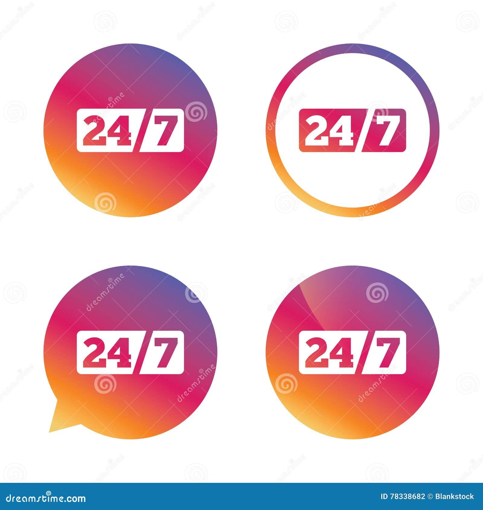 De dienst en steun voor klanten 24 uren