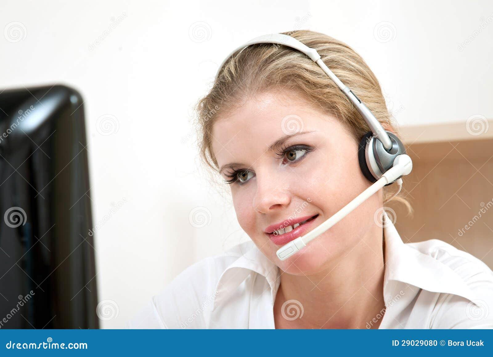 De dienstvertegenwoordiger van de klant