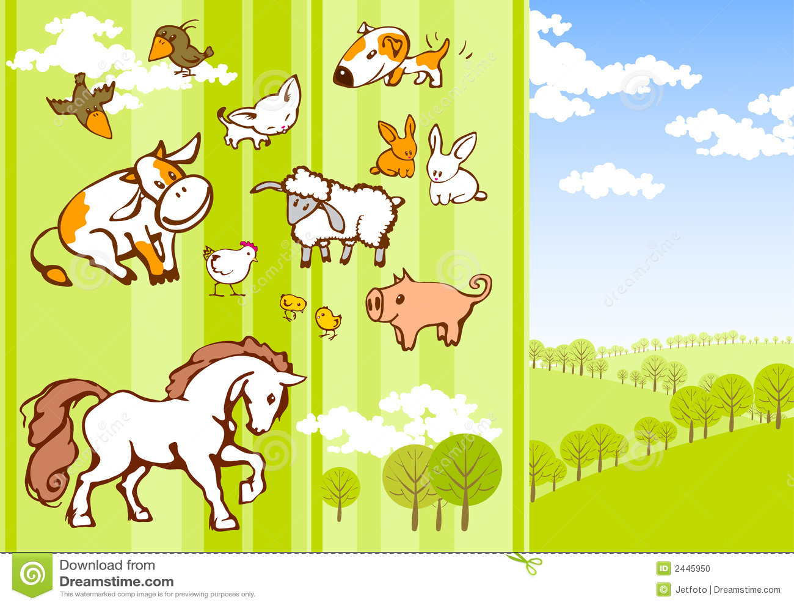 De dieren van het beeldverhaal