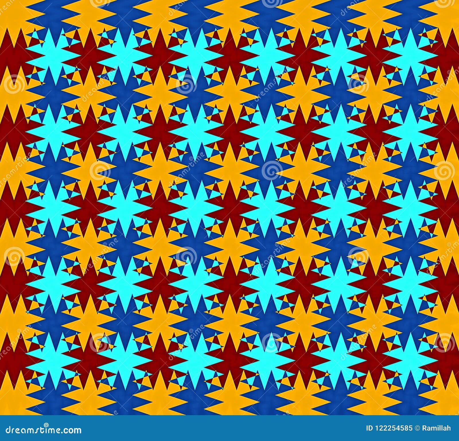 De digitale het Schilderen Mooie Abstracte Kleurrijke Golvende Driehoekige Achtergrond van het de Laagpatroon van de Zigzagtextuu