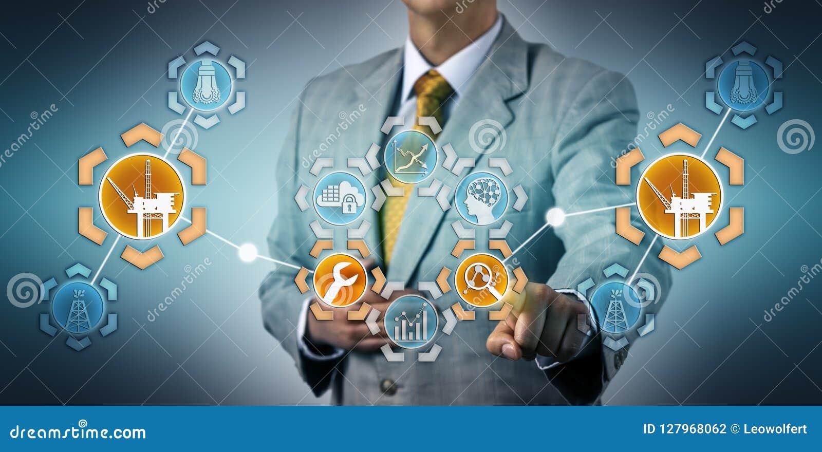 De Digitale Tweeling van managersimulating maintenance on