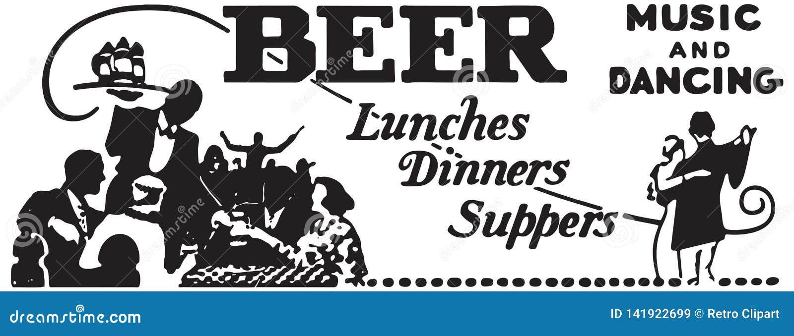 De Dinersavondmaal van bierlunchen