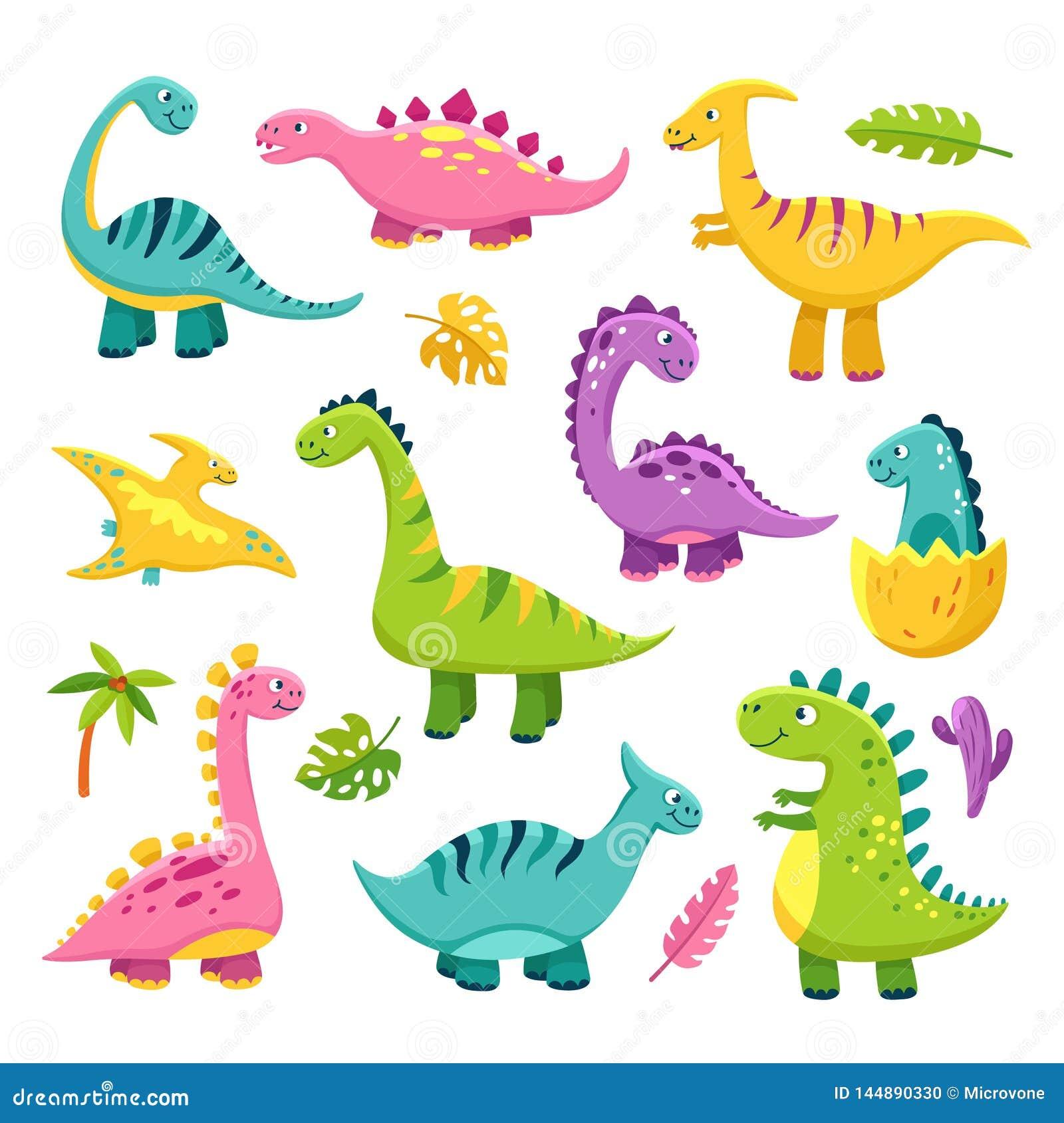 De dinosaurus van het beeldverhaal Vector van de wilde dierenbrontosaurus ge?soleerde dinosaurussen van Dino van de beeldverhaal