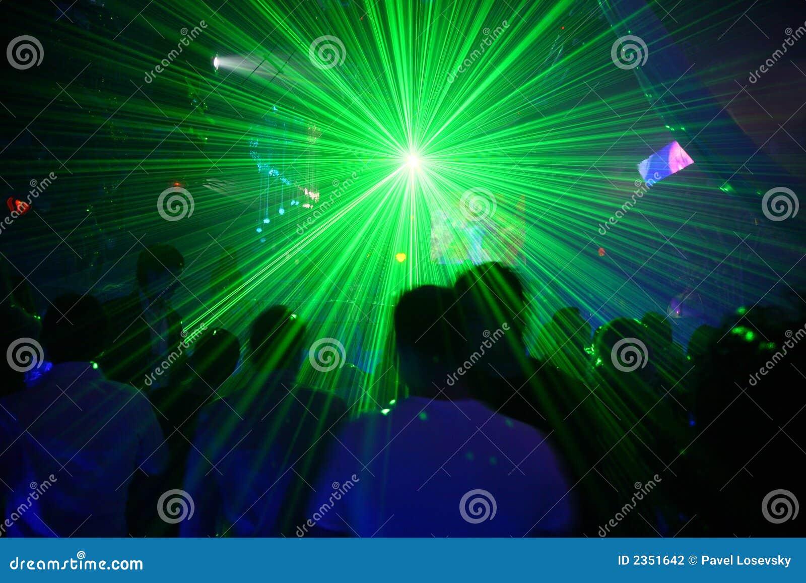 De disco van de laser