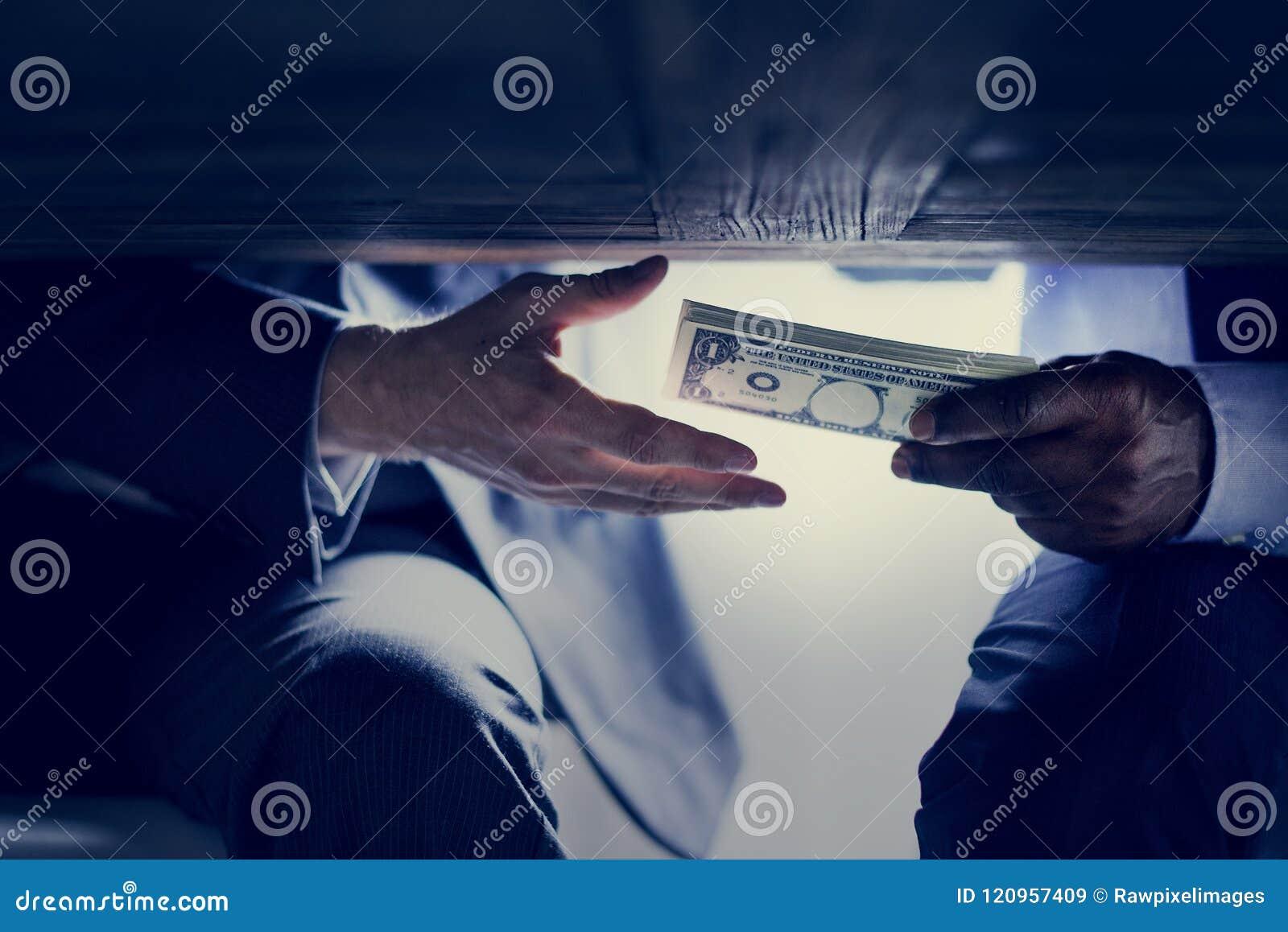 De diverse spruit van de mensenmisdaad met geld