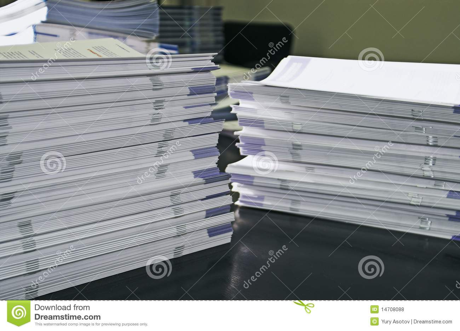 De documenten van de folder