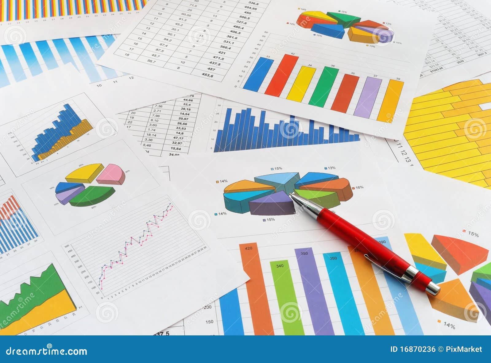 De documenten van financiën