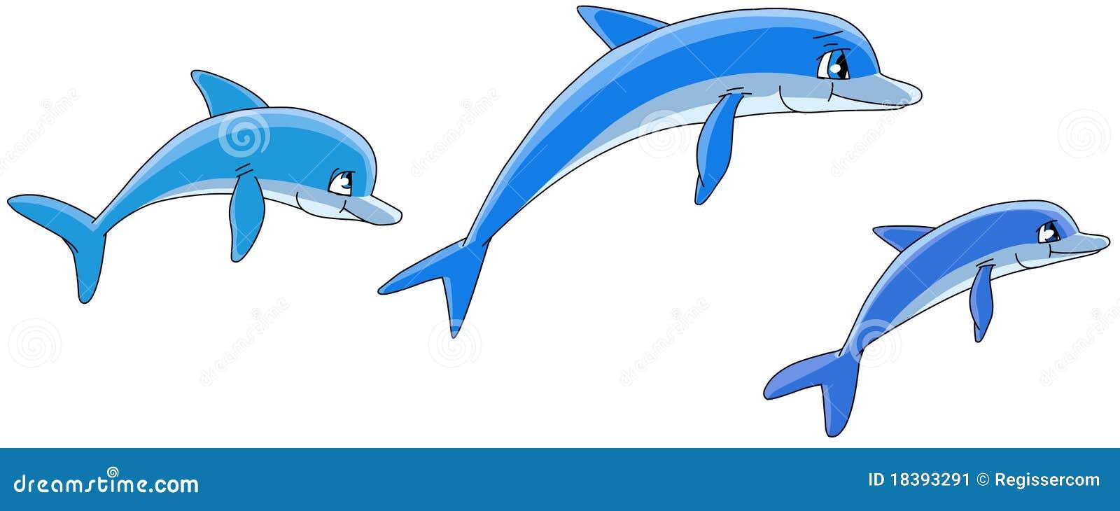 De dolfijnen van het beeldverhaal.