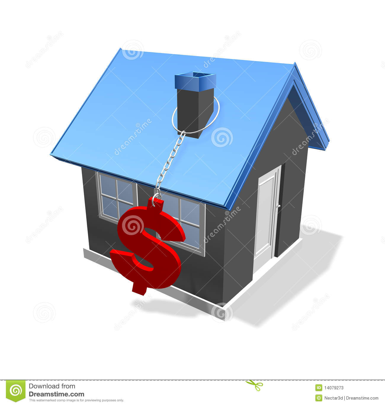 De dollar van het huis