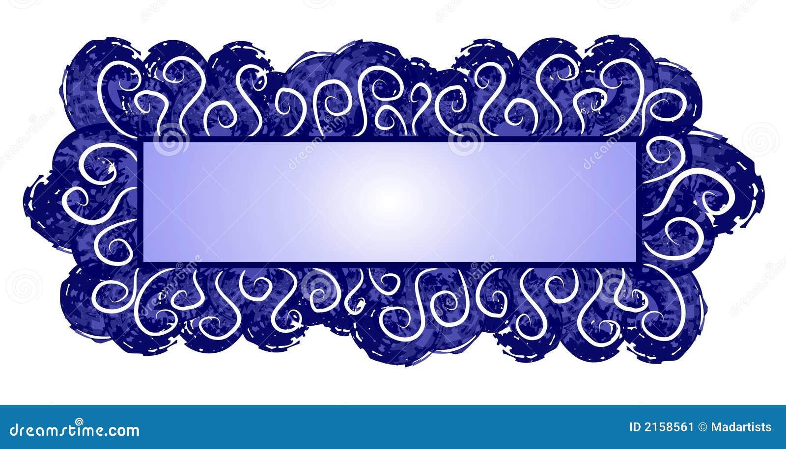 De Donkerblauwe Wervelingen van het Embleem van de Web-pagina