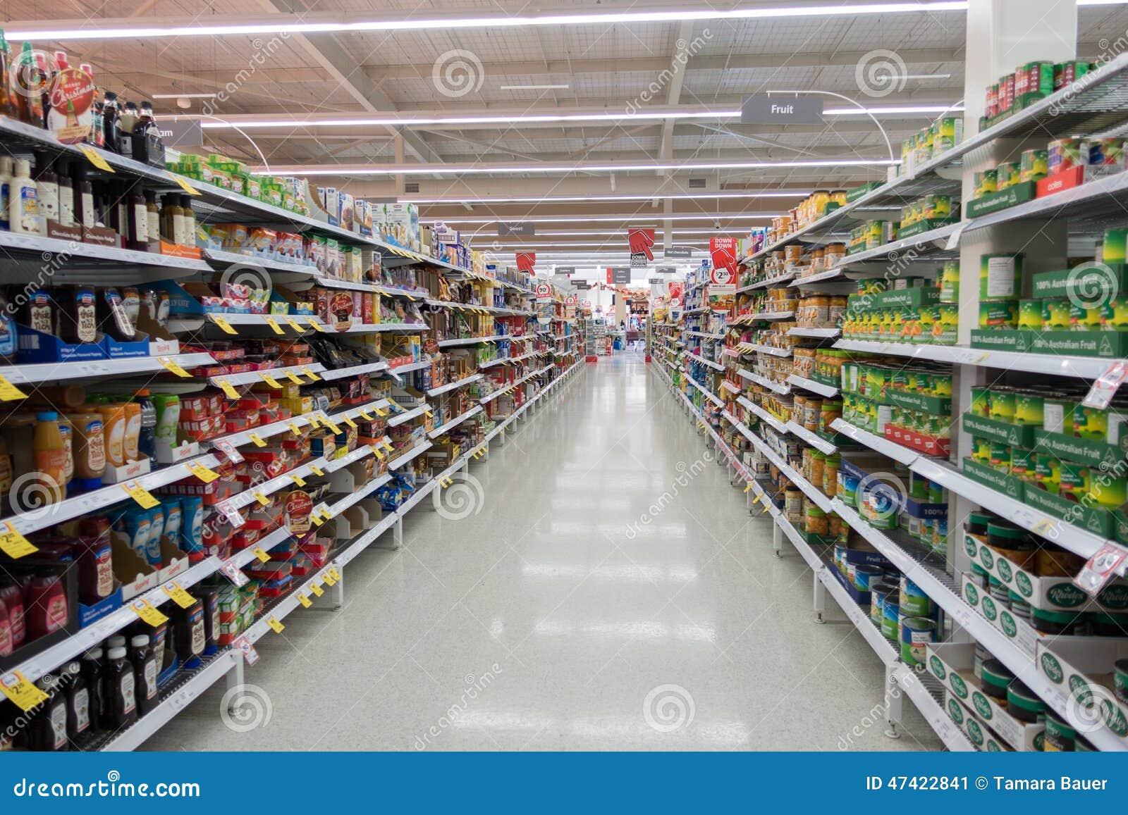De doorgang Hongkong van de supermarkt