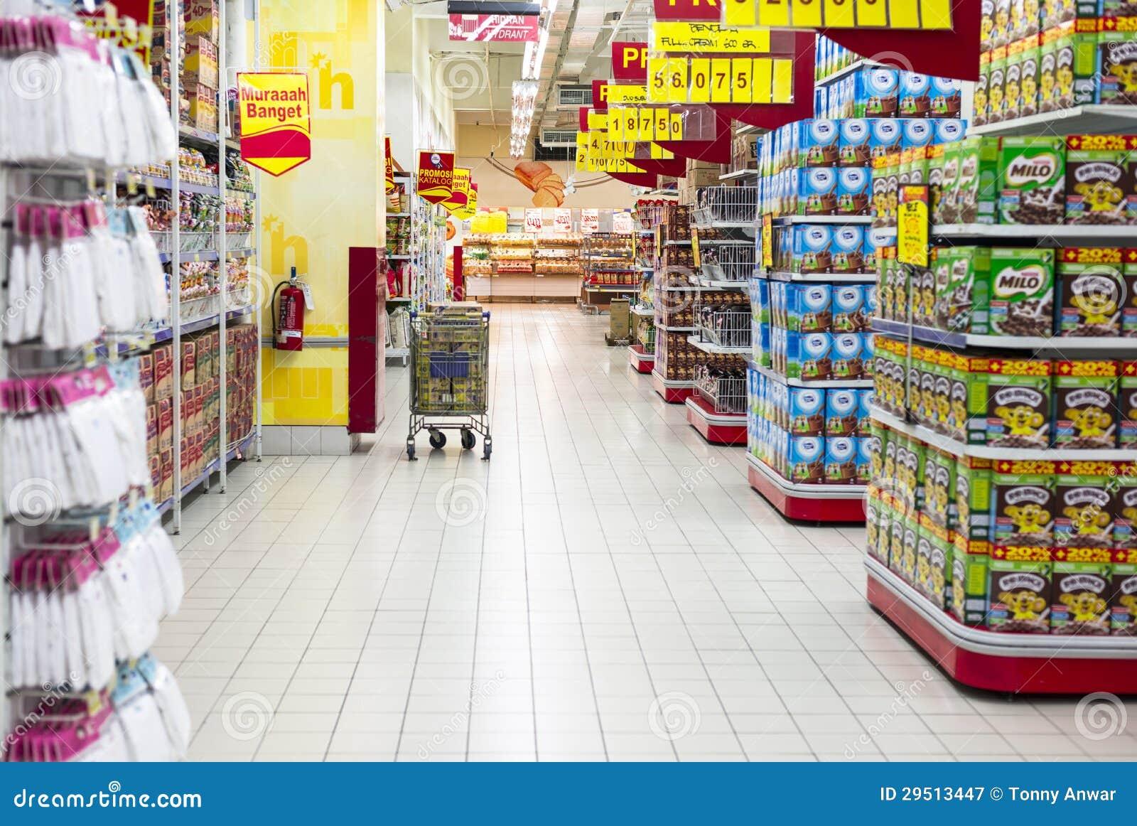 De Doorgang van de supermarkt