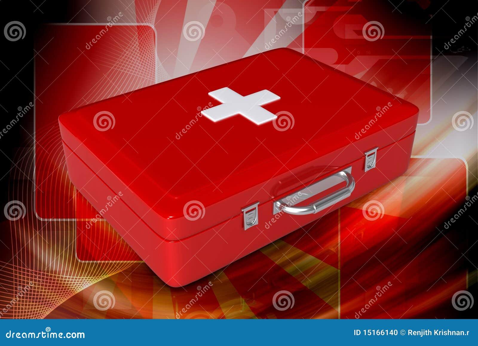 De doos van de eerste hulp
