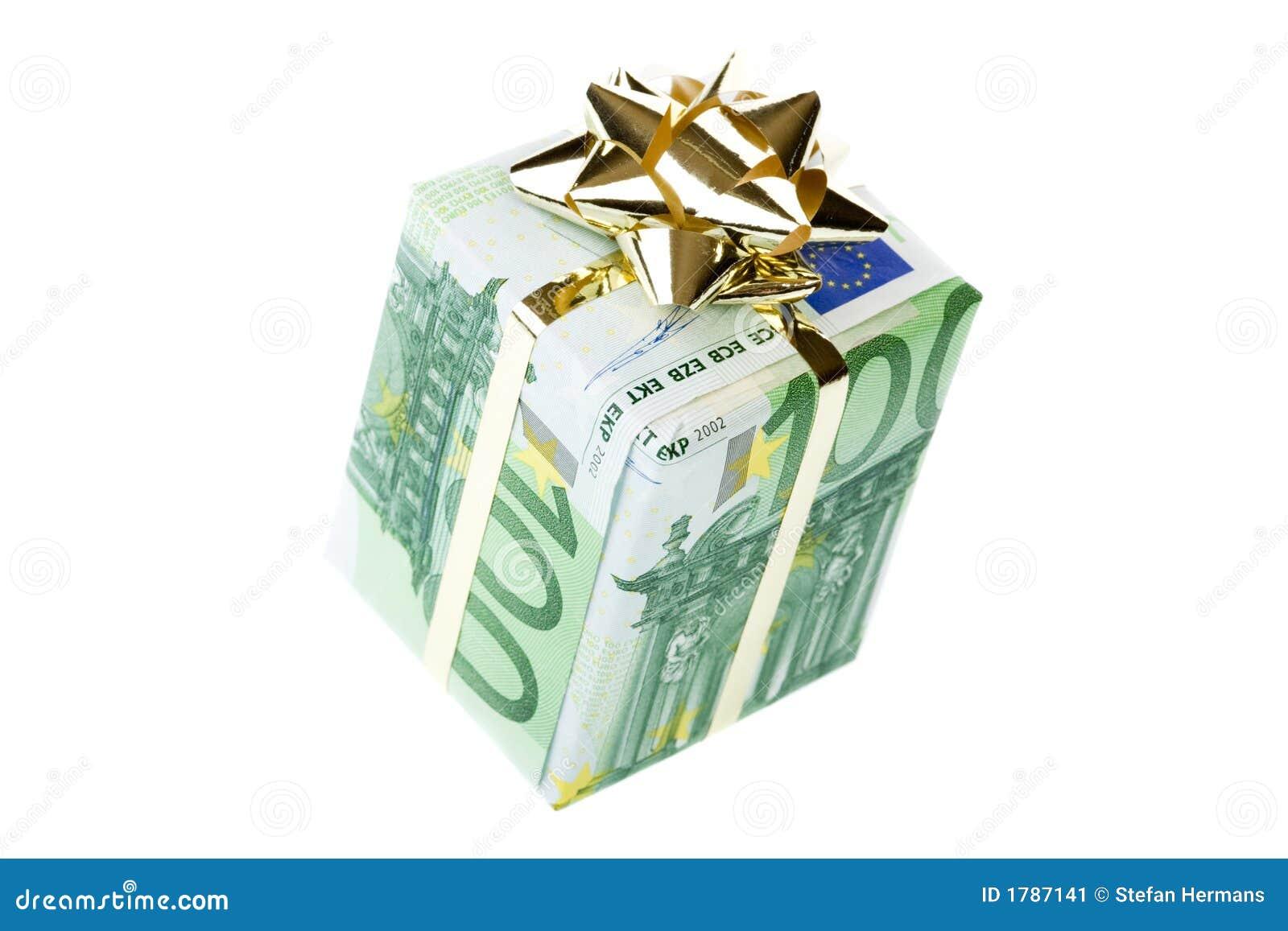 De doos van de gift van 100 euro