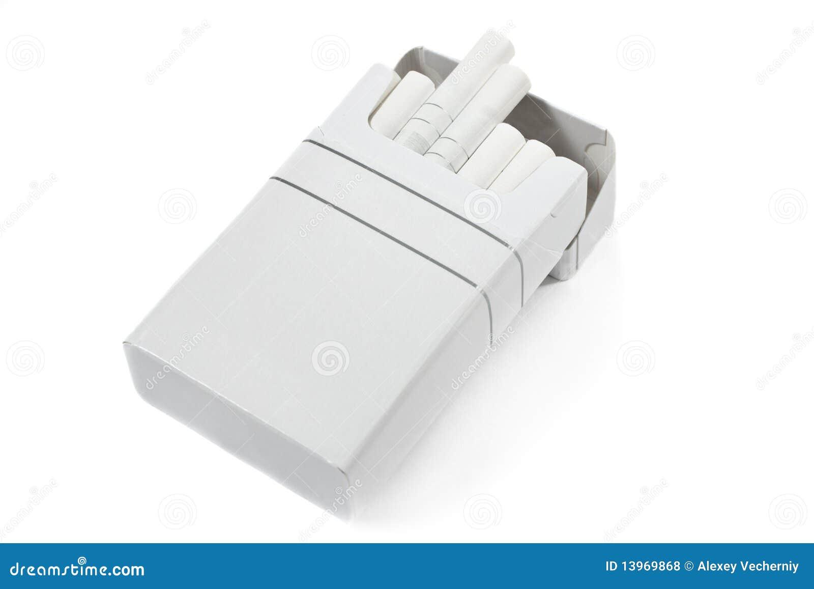 De doos van de sigaret
