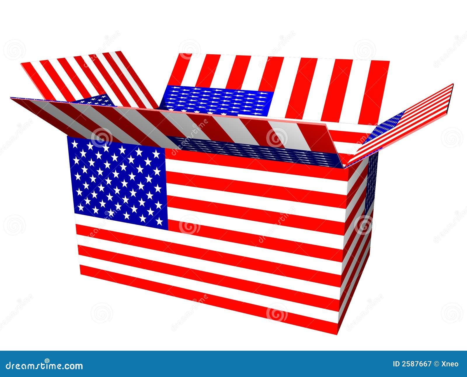 De Doos van de Vlag van de V.S