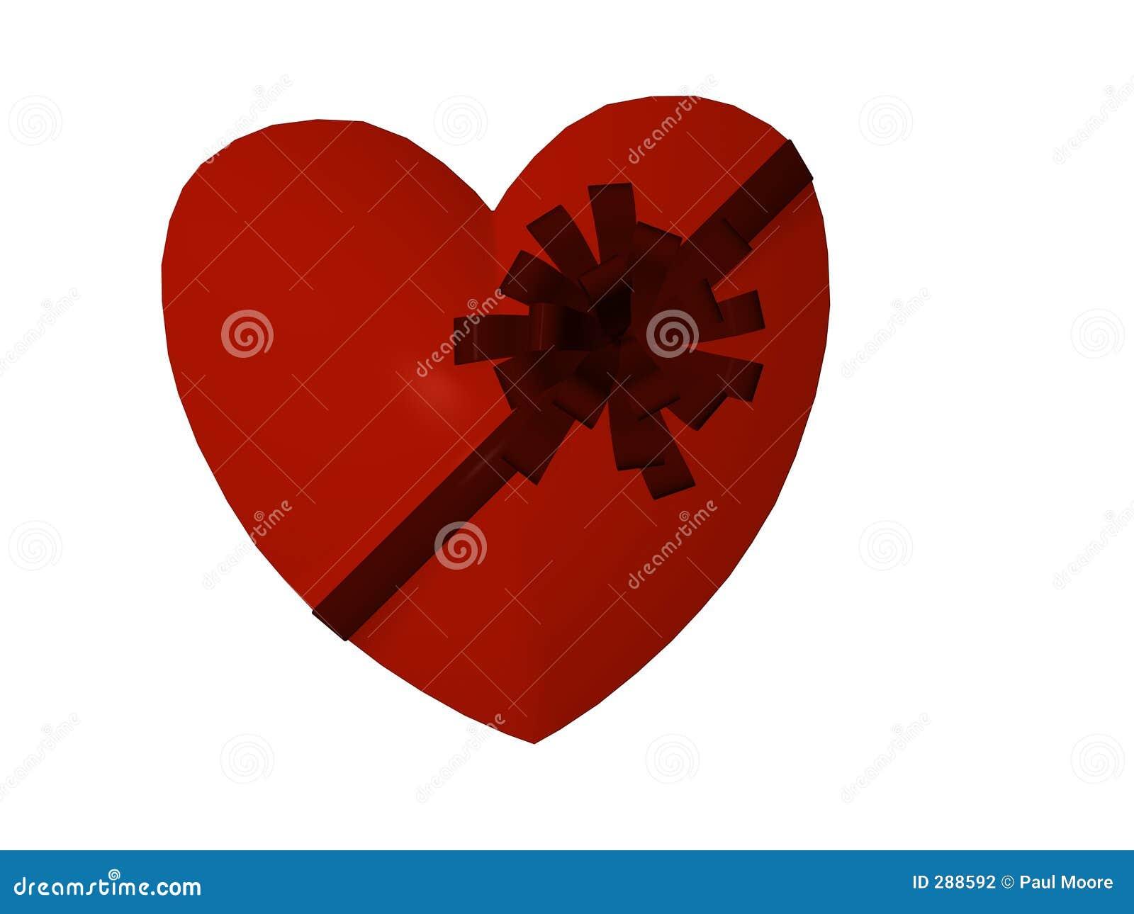 De Doos van het hart met Lint