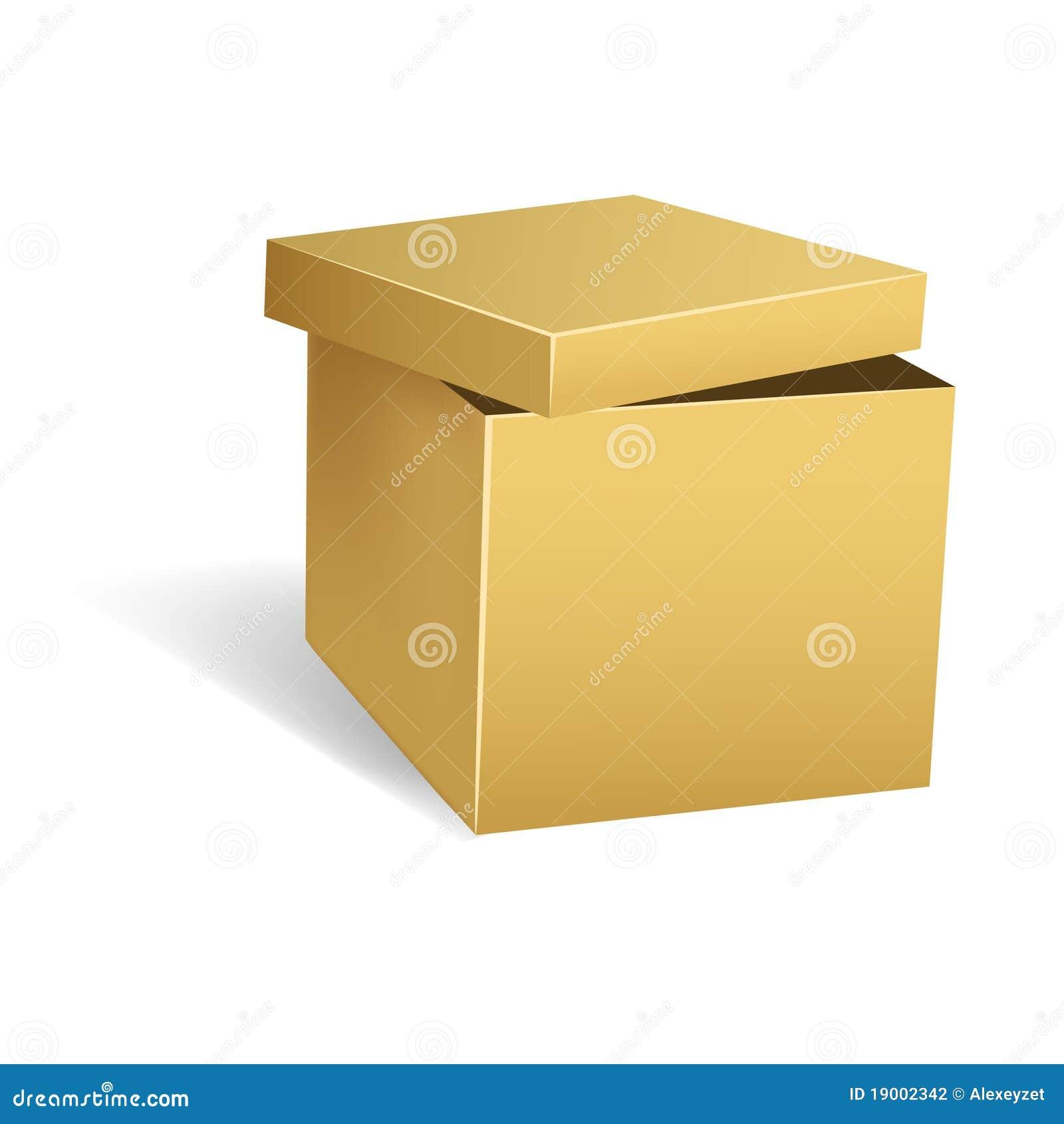 De doos van het karton met geopend deksel stock fotografie afbeelding 19002342 - Deksel van de boom ...