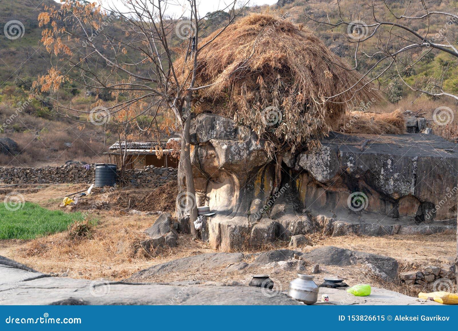 De dorpsplaats in Onderstel Abu