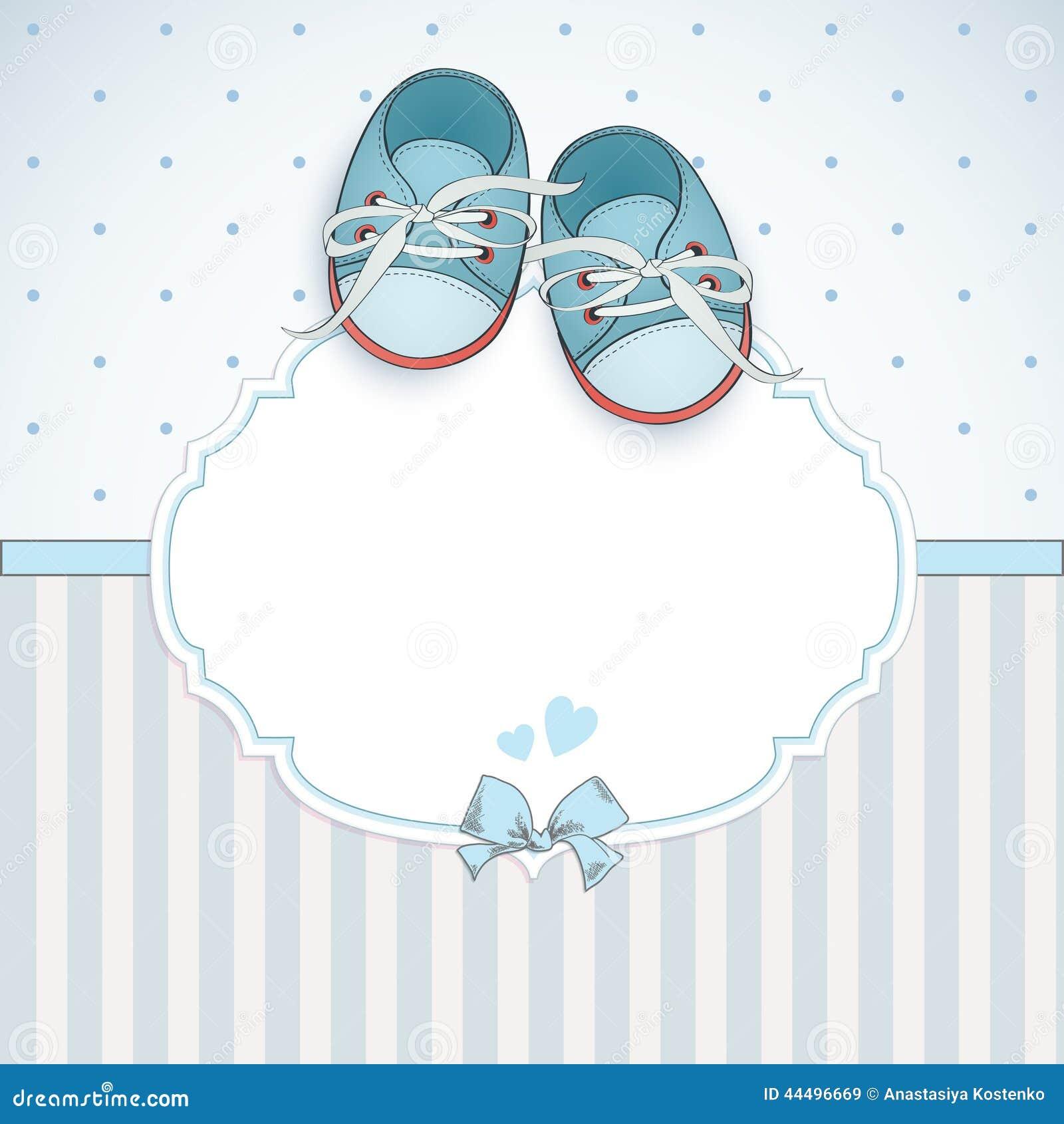 De douchekaart van de babyjongen