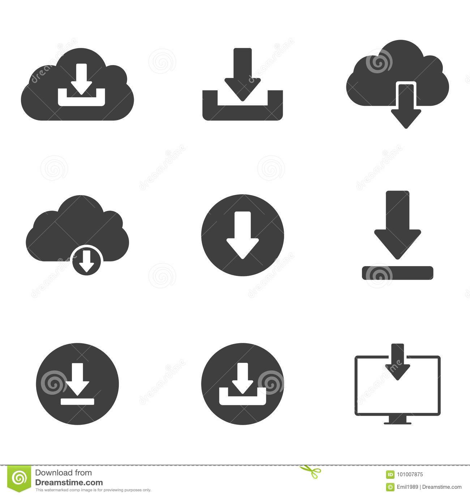 De download of bewaart tekenpictogram met wolk wordt geplaatst die