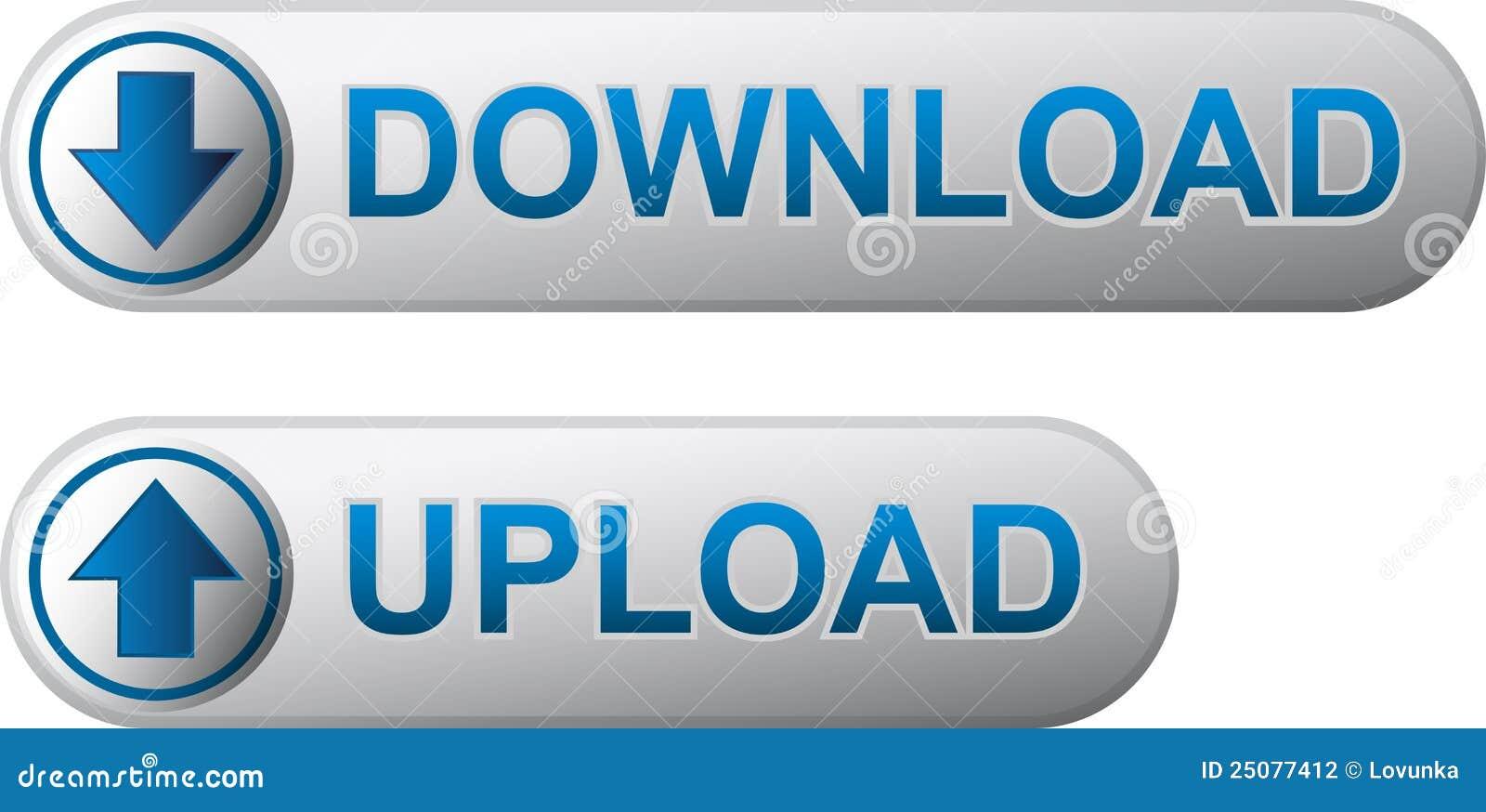De download en uploadt knopen
