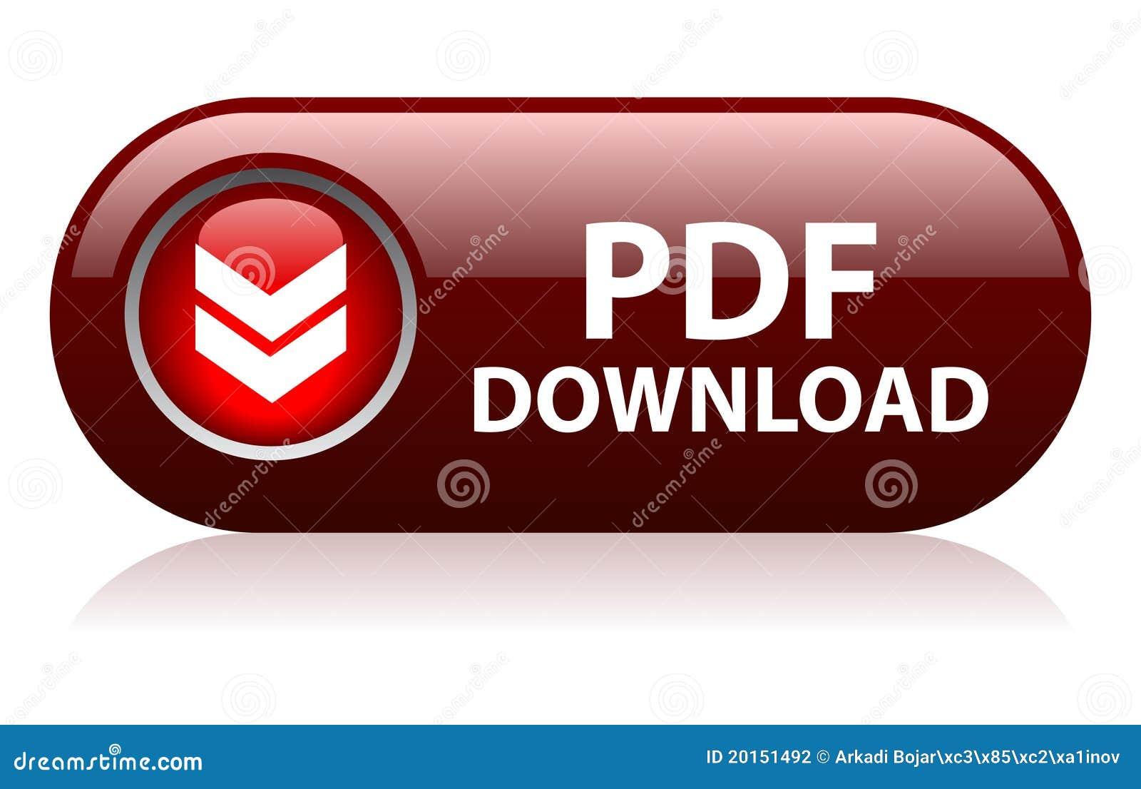 De downloadknoop van Pdf