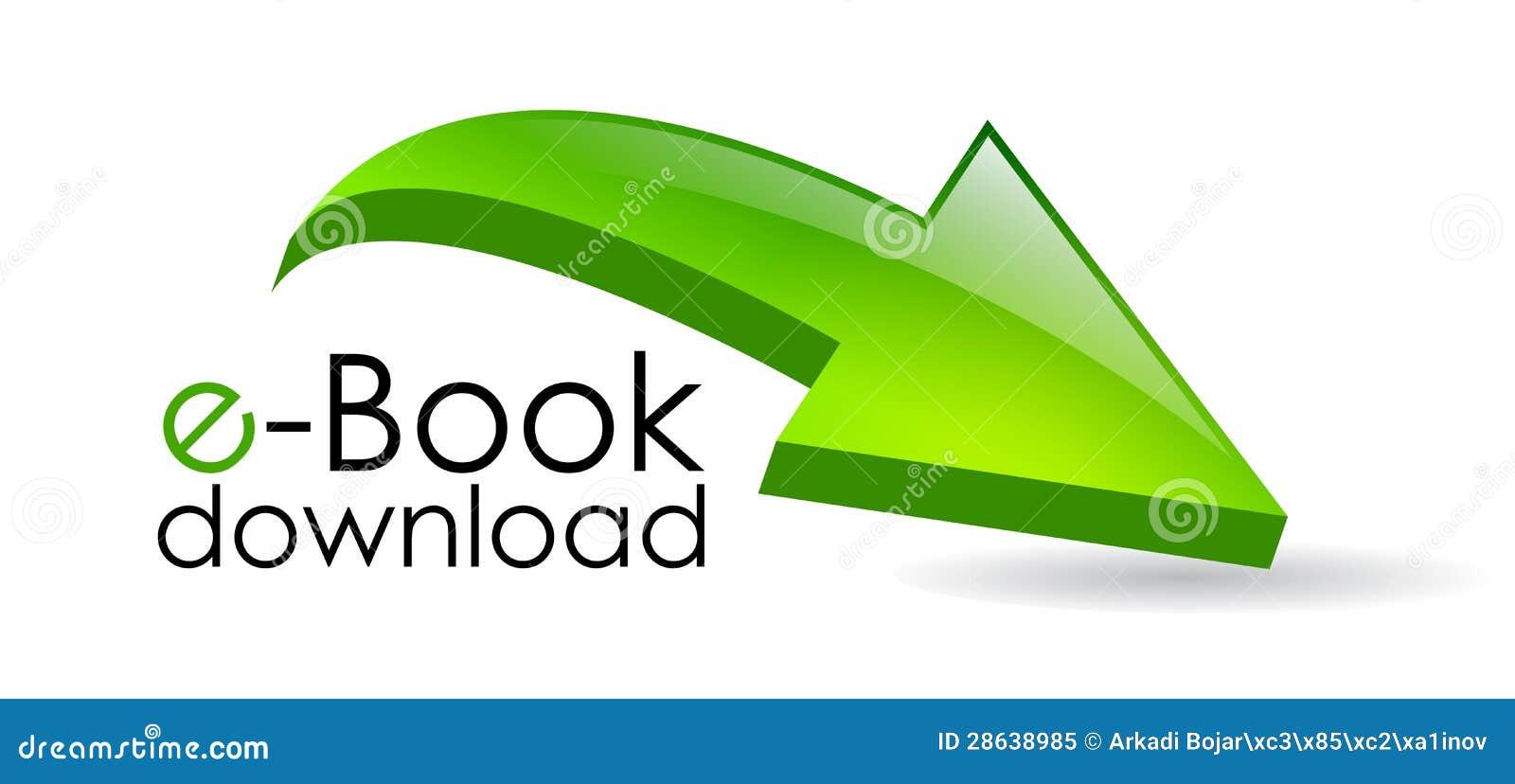 De downloadpijl van Ebook