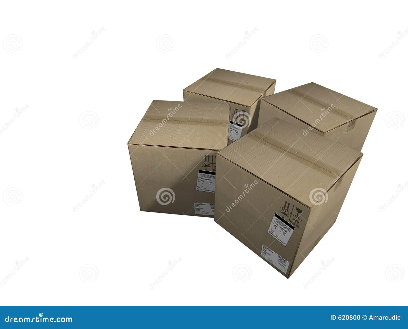 De dozen van de lading